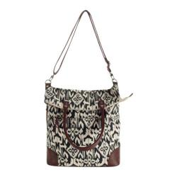 Women's San Diego Hat Company Canvas Oversized Tote BSB1366 Ikat