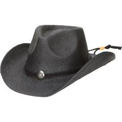 Men's San Diego Hat Company Cowboy w/ Chin Cord PBC1030 Black