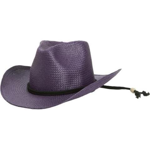 Children's San Diego Hat Company Woven Paper Cowboy STCLKID Purple