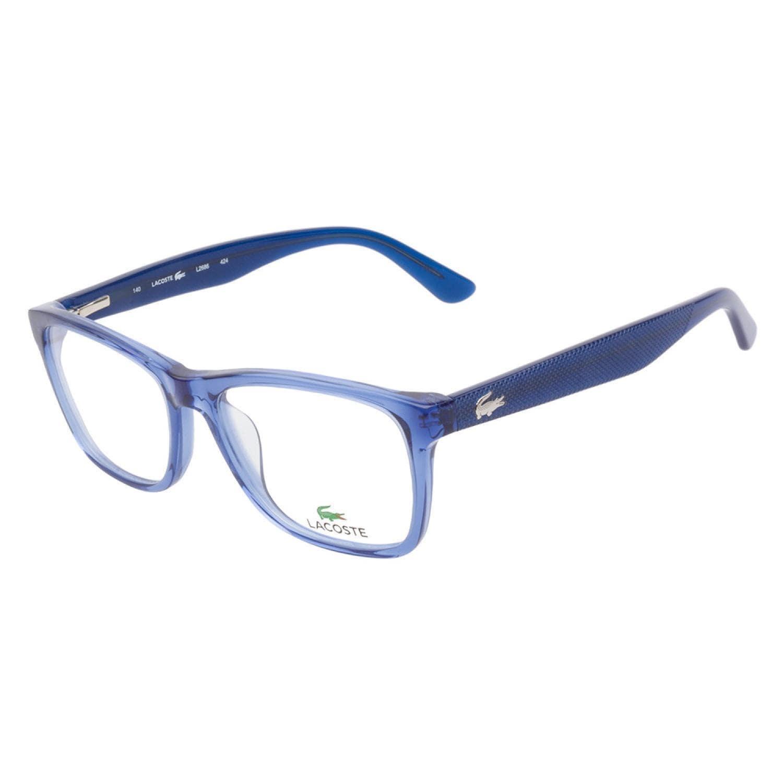 Glasses Frames Blue : Lacoste 2686 424 Blue Prescription Eyeglasses - Free ...