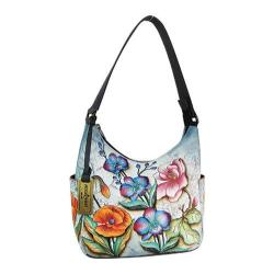 Women's Anuschka Classic Hobo With Side Pockets Floral Fantasy