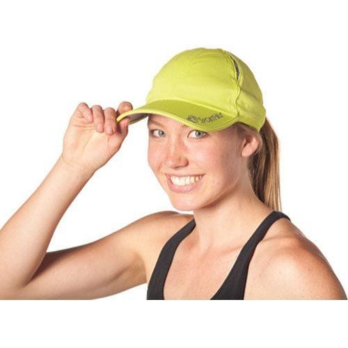 5ca400eef SportHill Reflective Running Cap Citron