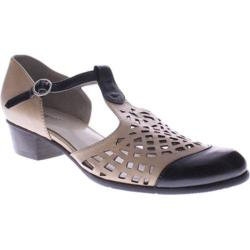 Women's Spring Step Maiche Black/Beige Leather