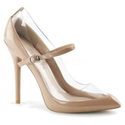 Women's Pleaser Amuse 21 Mary Jane Nude/Clear - Thumbnail 0