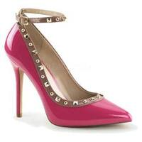 Women's Pleaser Amuse 28 Ankle Strap Hot Pink/Rose Patent