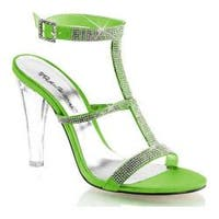 Women's Fabulicious Clearly 418 Apple Green Satin