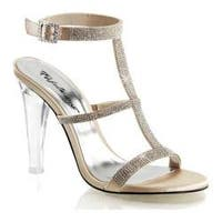 Women's Fabulicious Clearly 418 Champagne Satin