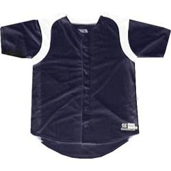 Boys' 3N2 Full-Button Short Sleeve Shirt Navy/White