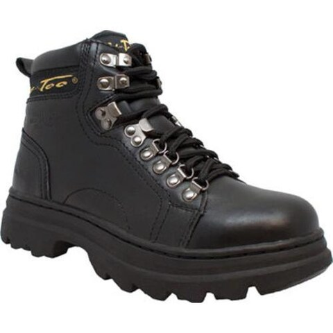 Women's AdTec 2980 6in Steel Toe Work Boot Black Leather