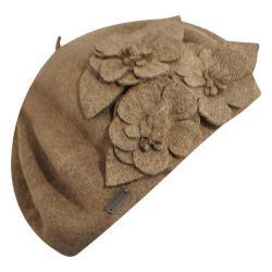 Women's Betmar Flower Beret Mink