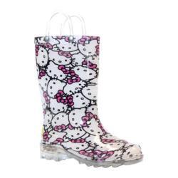 Girls' Western Chief Hello Kitty Glitter Lighted Rain Boot Pink