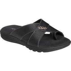 Women's Aerosoles Adjustment Sandal Black Faux Leather