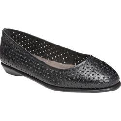 Women's Aerosoles Between Us Ballet Flat Black Leather