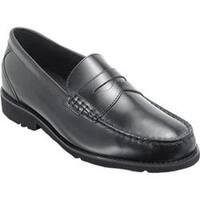 Men's Rockport Shakespeare Circle Loafer Black Brush Off Leather