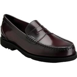Men's Rockport Shakespeare Circle Loafer Burgundy Brush Off Leather