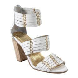 Women's Diba True True Sea Heels White/Gold Leather