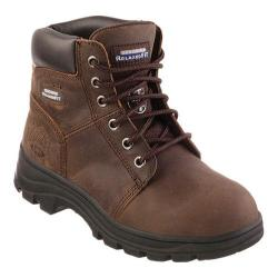 Women's Skechers Work Relaxed Fit Workshire Peril ST Dark Brown