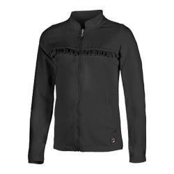 Girls' Fila Ruffle Jacket Black