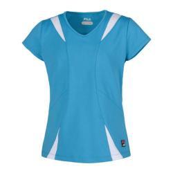 Girls' Fila Short Sleeve Top Aquamarine/White