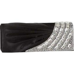 Women's J. Furmani 27569 Flap Clutch with Stones Black