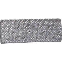 Women's J. Furmani 61054 Studded Flap Clutch Pewter