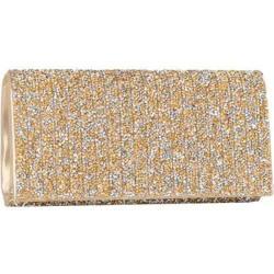 Women's J. Furmani 61103 Beaded Flap Clutch Gold
