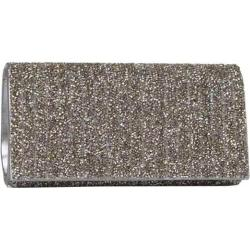 Women's J. Furmani 61103 Beaded Flap Clutch Pewter