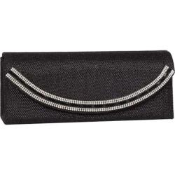 Women's J. Furmani 61964 Crystal Border Flap Clutch Black
