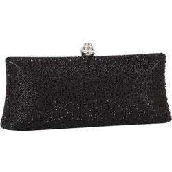 Women's J. Furmani 66845 Studded Hardcase Clutch Black