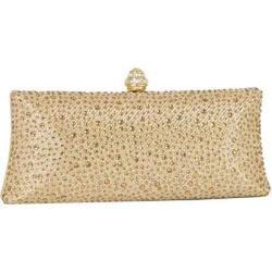Women's J. Furmani 66845 Studded Hardcase Clutch Gold
