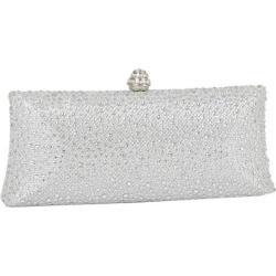 Women's J. Furmani 66845 Studded Hardcase Clutch Silver