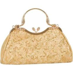 Women's J. Furmani 81022 Vintage Beaded Lace Design Gold