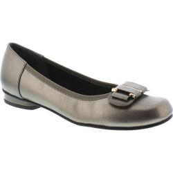 Women's Rose Petals by Walking Cradles Mila Pewter Nappa/Pewter Patent