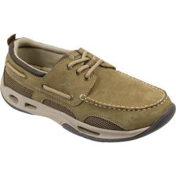 Men's Rugged Shark Tidalwave Boat Shoe Tan Oiled Crazy Horse Nubuck - Thumbnail 0