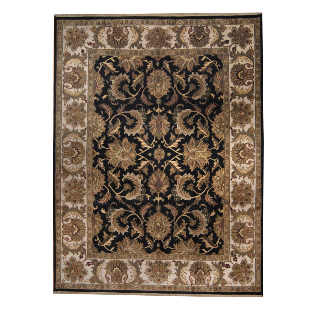 Herat Oriental Indo Hand-knotted Mahal Wool Rug (9' x 12')