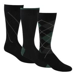 Men's Dockers Classics Metro Argyle Crew Socks (6 Pairs) Black