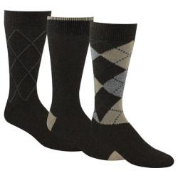 Men's Dockers Classics Metro Argyle Socks Big & Tall (6 Pairs) Brown