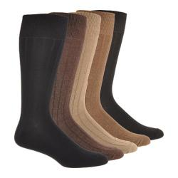 Men's Dockers Essential Rib (6 Pairs) Brown Assorted