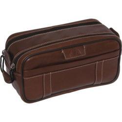 Men's Dopp Country Saddle Soft Sided Multi-Zip Travel Kit Brown