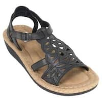 Women's Cliffs by White Mountain Chambray Black Burnished Smooth