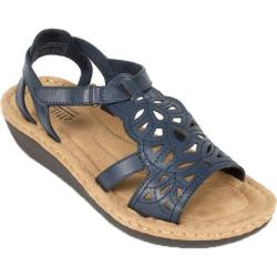 Women's Cliffs by White Mountain Chambray Navy Burnished Smooth