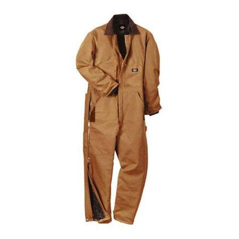 Men's Dickies Premium Insulated Coverall Short Brown Duck