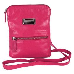 Women's Latico Dora Cross Body Coinkeeper 7314 Fuchsia Leather