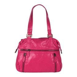 Women's Latico Hazel Gathered Shoulder Bag 7605 Fuchsia Leather
