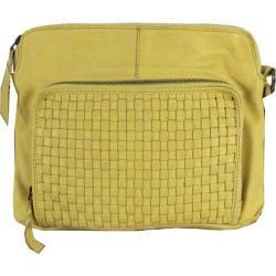 Women's Latico Sloane Cross Body Bag 4001 Yellow Leather