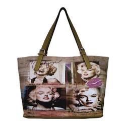 Women's Marilyn Forever Beautiful Memories Handbag MM2122 Taupe