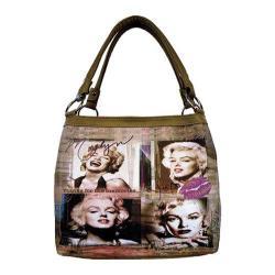 Women's Marilyn Forever Beautiful Memories Medium Tote MM2123 Taupe