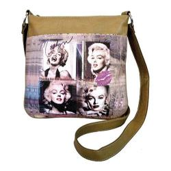 Women's Marilyn Forever Beautiful Memories Messenger MM2121 Taupe