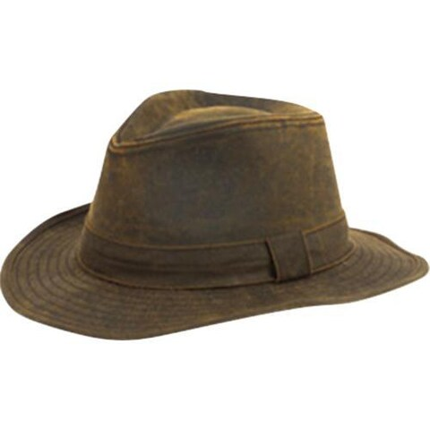 Men's San Diego Hat Company Distressed Fedora CTH3730 Brown