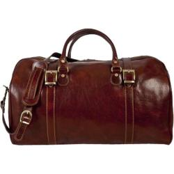 Alberto Bellucci Torino Italian Leather Duffel Bag Brown
